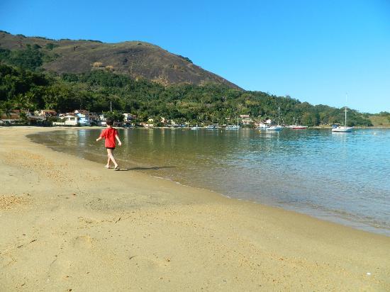 Posada Daleste: playa desde la posada