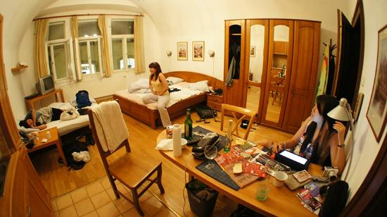 Charles Bridge Economic Hostel: Living/Sleeping Area