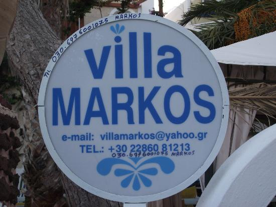 Villa Markos : If you want to call direct
