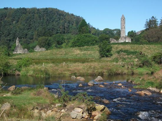 St Kevin's Tower, Glendalough- an easy walk from Riversdale House