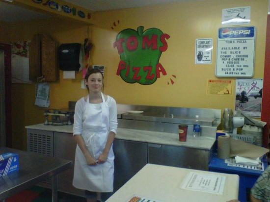 Tom's Pizza: Tom's grand daughter, visiting for the summer works during her summer break