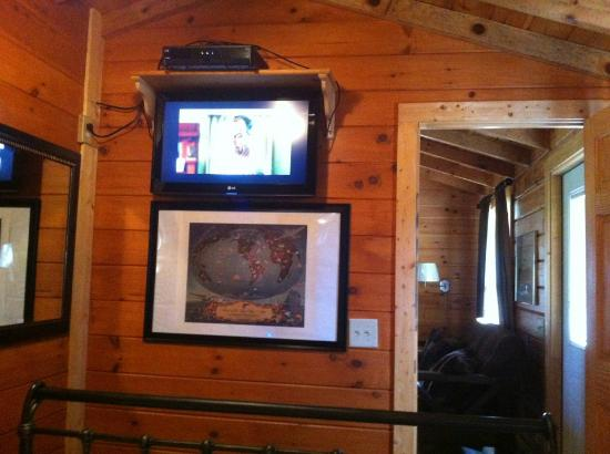 Copperhead Lodge: Tv in the bedroom