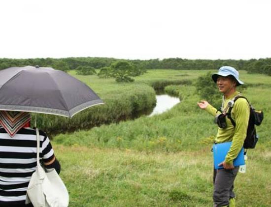 Kushiro Shitsugen FatBike Guide Tour: キラコタン岬先端部手前の草原で