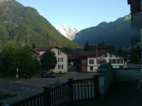 Alpina Hotel: Hotel Alipna, Interlaken - view from balcony Aug 2012