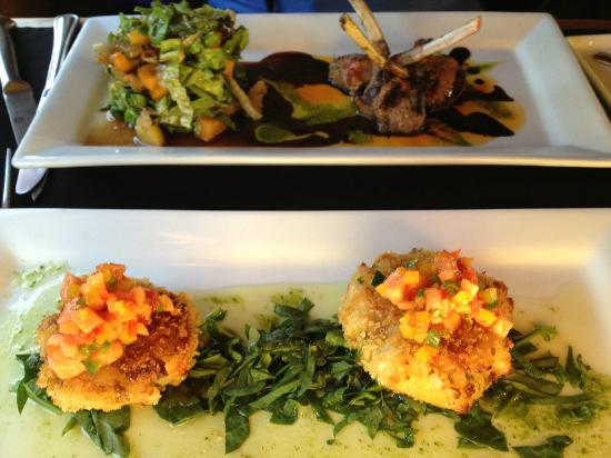Fresh: Lamb appetizer and crab cake appetizer