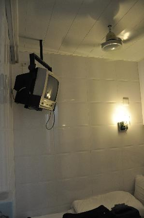 Maple Leaf Guest House: The television is ceiling mounted.