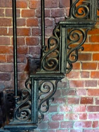 Highland Light: Detail of the wrought iron steps inside the lighthouse
