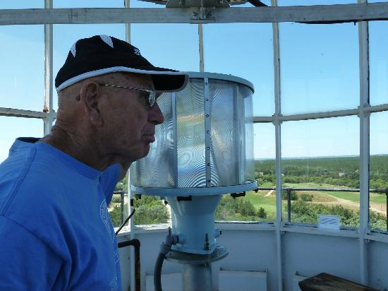 Highland Light: The keeper with the new light in the Lantern room