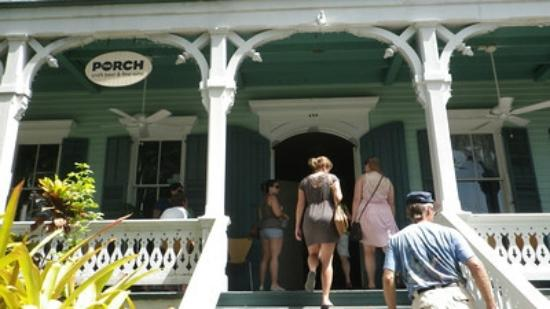 The porch entry off caroline st at duval picture of the for Craft beer key west
