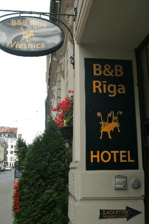 B & B Riga : from the street