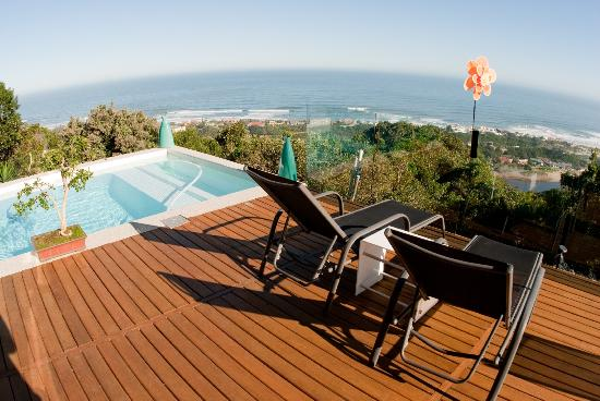 Phoenix Guest House - Wilderness : Pool and deck view