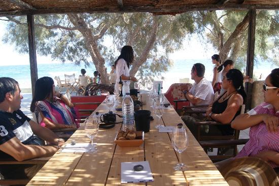 Gaia Winery : Degustando algunos vinos con amigos...