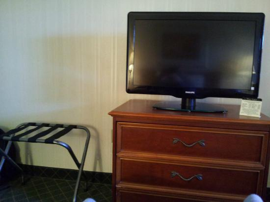 Comfort Inn Auburn-Worcester: tv, dresser, luggage rack
