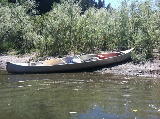 Burke's Canoe Trips on the Russian River: stopping for a swim