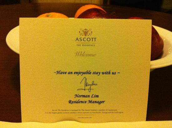 Ascott Makati: letter