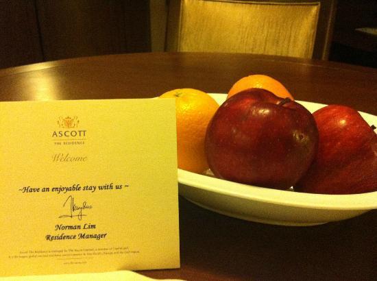 Ascott Makati: complimentary fruit plate