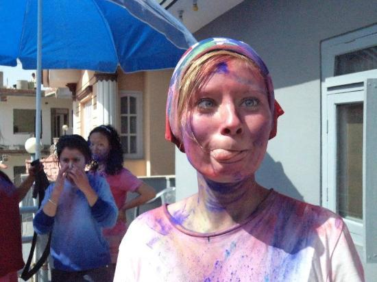 The Hub, Lazimpat: Celebrating Holi with our Danish guests