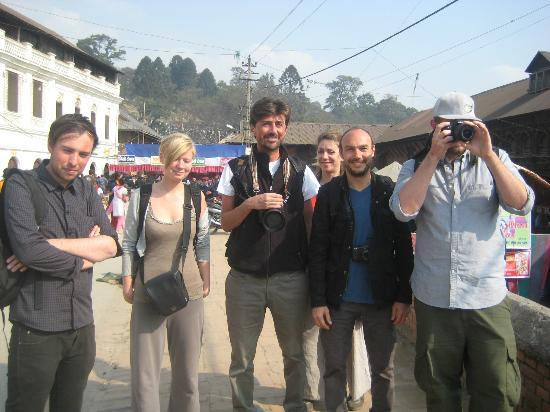 The Hub, Lazimpat: On sight seeing with our guests from Italy, UK and Denmark