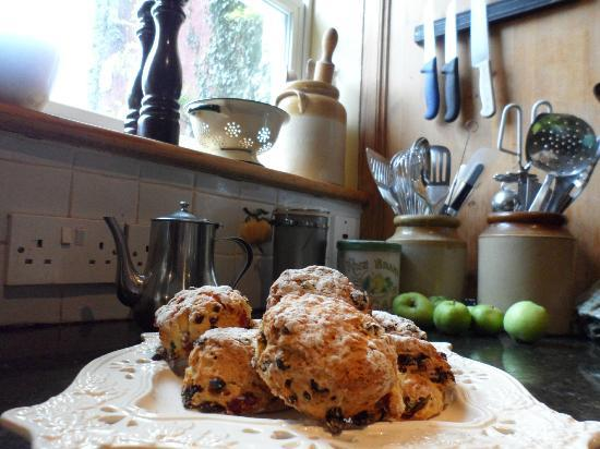 Rigney's Farmhouse Bed & Breakfast: Fresh scones 2012