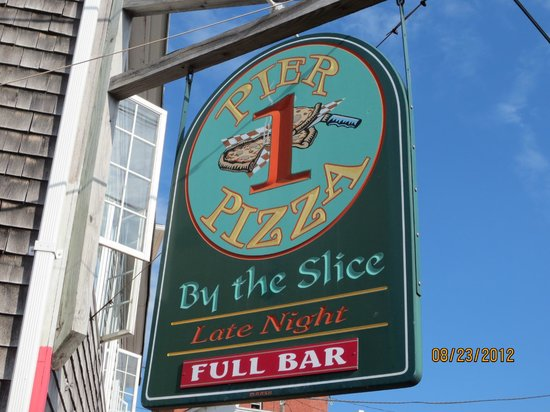 Pier One Pizza: Sign