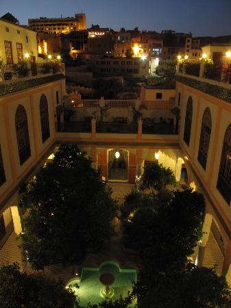 Palais Amani: Vue du Riad depuis la terrasse