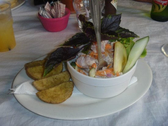 Cafe Ariki: Our Ikamata..and this was the portion of an entree!!!