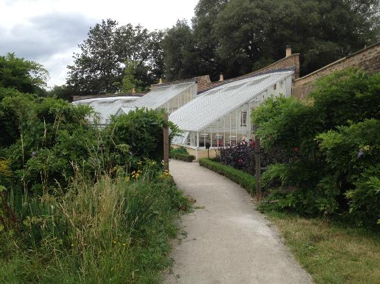 Fulham Palace: newly renovated glasshouses and garden at Walled Garden