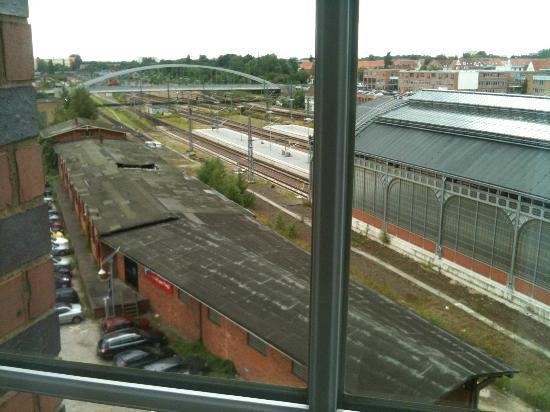 H4 Hotel Lubeck City Centre: la vista dalla camera
