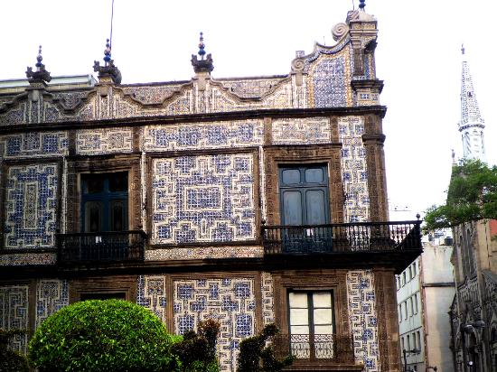 Exterior view oct2012 picture of house of tiles casa de for House of tiles mexico city