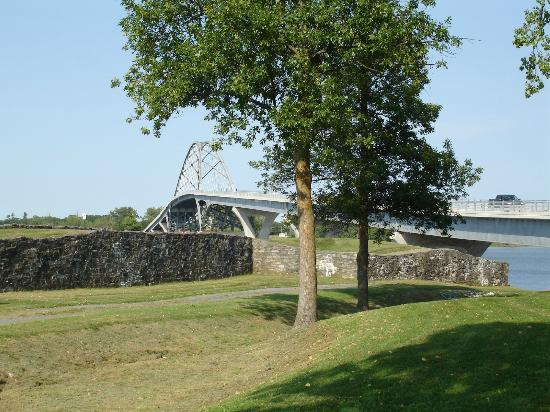 Crown Point State Historic Site: Champlain Bridge from the Fort grounds