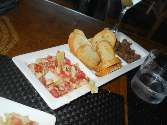 Top of The Tram: This was the bruchetta (sp) appetizer (before the meal went down hill.