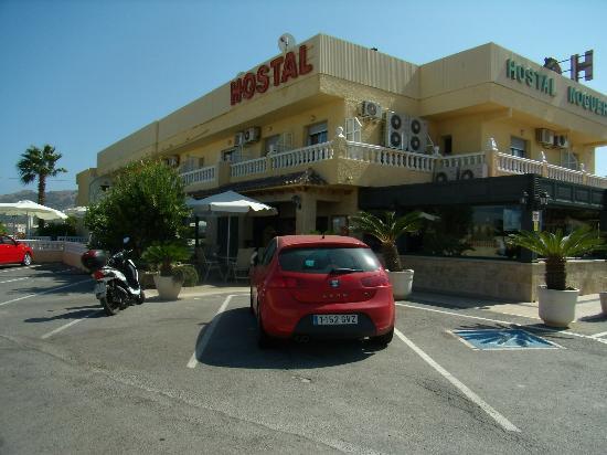 Hotel Noguera : Parkeringen ved Hostal Noguera