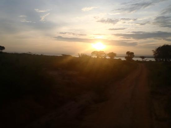 African Adventure Travellers Day Tours: Sunset over Lake Albert