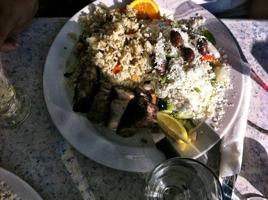 Leo's Pizza & Greek Taverna: Lamb Dinner (pic taken in bad light on the outside deck)
