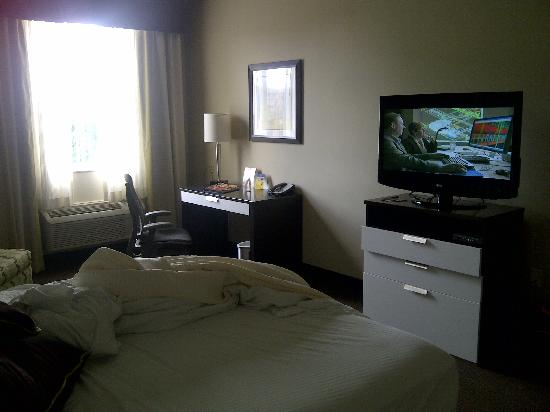 BEST WESTERN PREMIER Miami International Airport Hotel & Suites : View of the TV, Bed and window