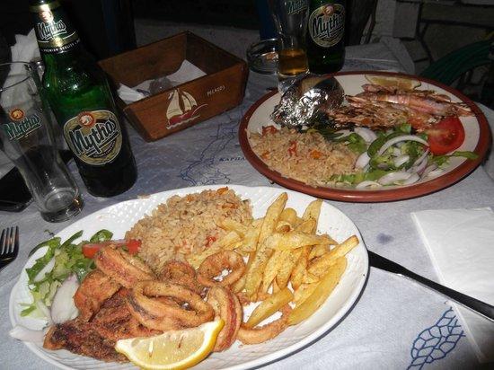 Pelagos Live Music Restaurant : frittura di calamari e gamberi