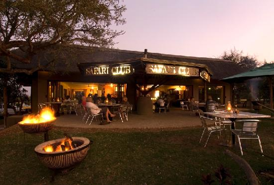 Sundowners at the Safari Club