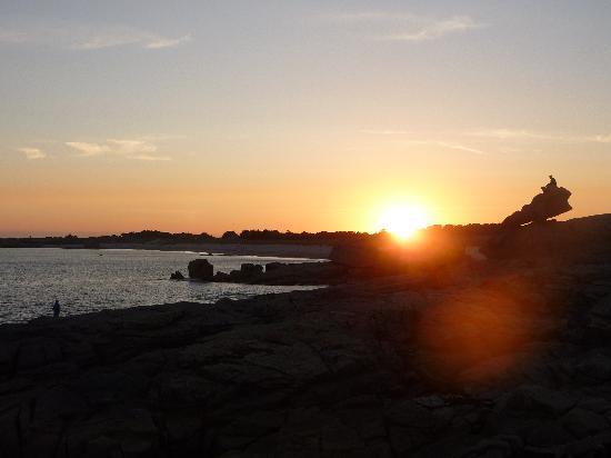 Grand Hôtel des Dunes : Coucher de soleil Pors Riagat