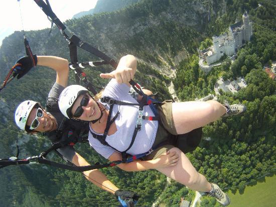 Paraworth Tandem Paragliding: Paraworth Paragliding above Neuschwanstein Castle