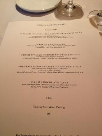 North Fork Table: our tasting menu