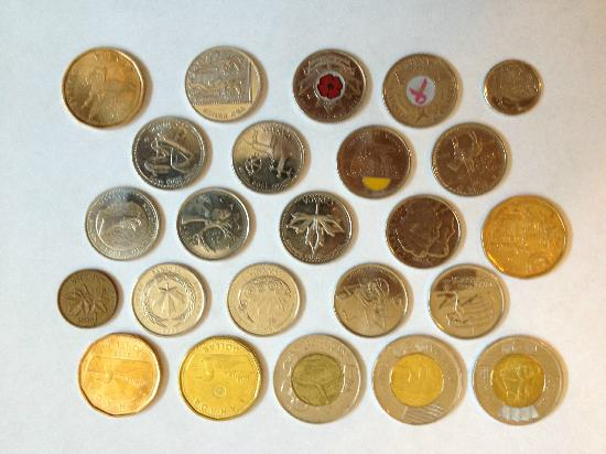 Hotel l'Abri du Voyageur: Some of the Coins