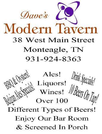 Dave's Modern Tavern: New Flyer!