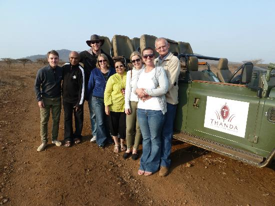 Thanda Private Game Reserve: Our awesome guests on the game drive with Us