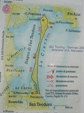 Cartina Di San Teodoro Sardegna.Mappa Foto Di Spiaggia La Cinta Sardegna Tripadvisor