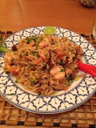 Koh Pee Pee : arroz com camarão e alho poró
