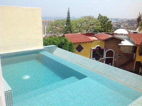 Casa Cupula: Private pool from our penthouse suite