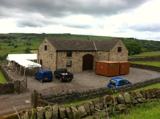 Foxholes Farm Cottages: It looked beautiful before the toilets were put in!