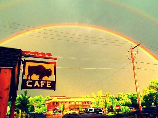 Buffalo Cafe & Nightly Grill: It's a double rainbow!!!