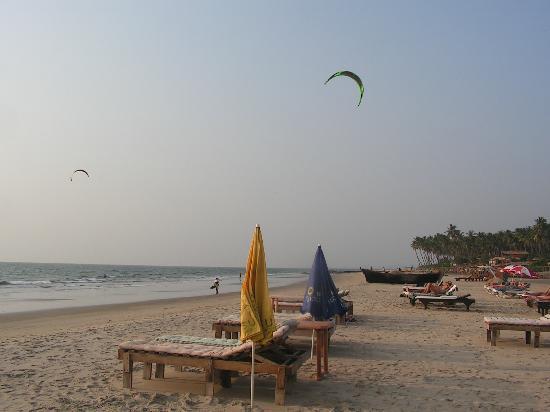 Kitesurfers at Mandrem Beach