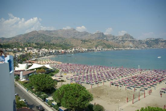 Hotel Sporting Baia: veduta dalla stanza 501 che poi è la stessa veduta delle stanze fronte mare